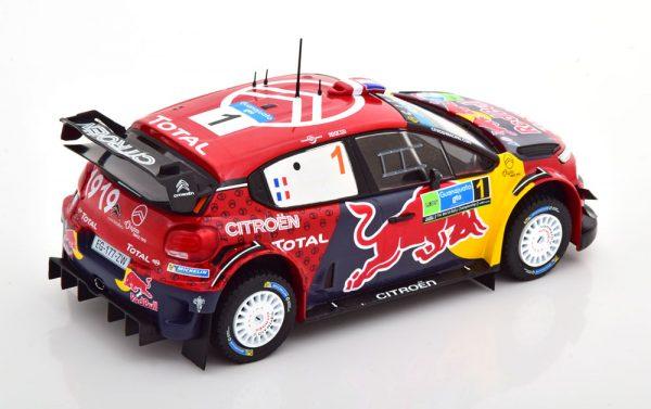 """Citroen C3 WRC Winner Rally Mexico 2019 """"Red Bull"""" Ogier/Ingrassia 1-24 Ixo Models"""