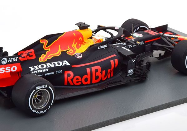 Aston Martin Red Bull Racing RB16 Winner 70th Anniversary GP 2020 Max Verstappen 1-18 Spark