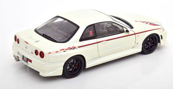 Nissan Skyline GT-R (BNR34) 1999 Wit 1-18 Greenlight Collectibles