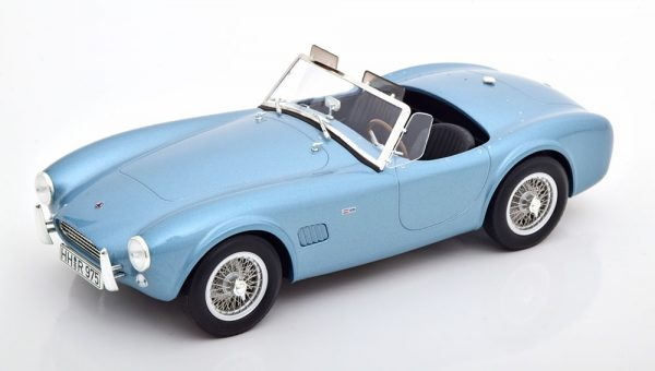 AC Cobra 289 Roadster 1963 Blauw Metallic 1-18 Norev