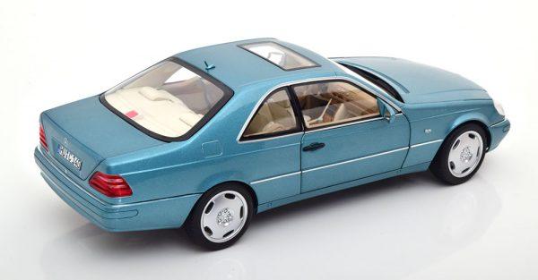 Mercedes-Benz CL600 Coupe 1997 Blauw Metallic 1-18 Norev