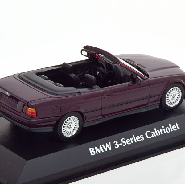 BMW 3-Series ( E36 ) Cabriolet 1993 Purple Metallic 1-43 Maxichamps