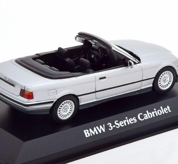 BMW 3-Series ( E36 ) Cabriolet 1993 Zilver 1-43 Maxichamps