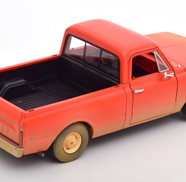 """Chevrolet C-10 1971 """"Groundhog Day"""" Rood 1-24 Greenlight Collectibles"""