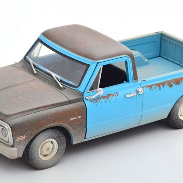 """Chevrolet C-10 1971 """"Independence Day"""" Blauw 1-24 Greenlight Collectibles"""