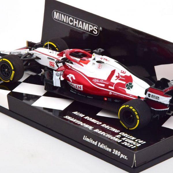 Alfa Romeo Racing Orlen C41 Shakedown Barcelona 2021 R.Kubica 1-43 Minichamps Limited 300 Pieces