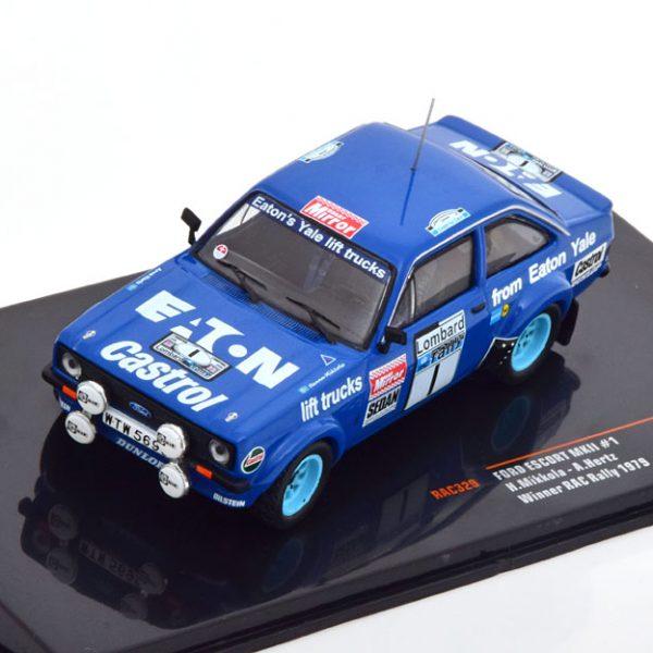 Ford Escort MKII Winner RAC Rally 1979 Mikkola/Hertz Blauw 1-43 Ixo Models