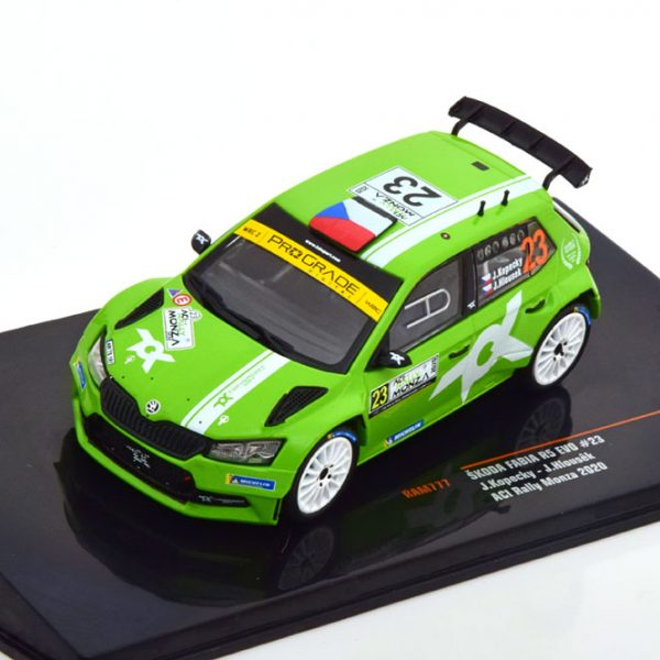Skoda Fabia RS EVO #23 ACI Rally Monza 2020 J.Kopecky / J.Hlousék Groen 1-43 Ixo Models
