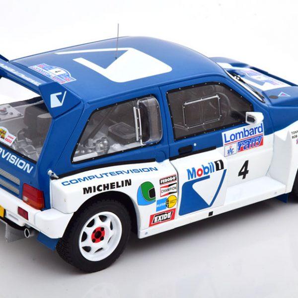 MG Metro 6R4 No.4, RAC Rally 1986 Pond/Arthur Blauw / Wit 1-18 Ixo Models