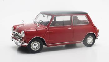 Austin Mini Cooper MK 1 1961-1963 Rood/Zwart 1-18 Cult Scale Models