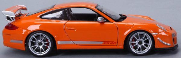Porsche 911 GT3 RS 4.0 2012 Oranje / Zilver 1-18 Burago Limited Edition 3000 Pieces