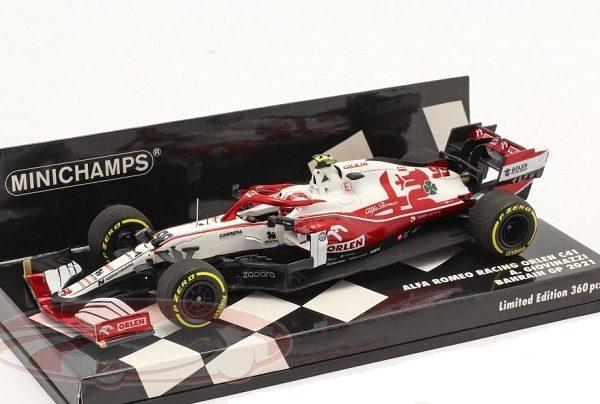 Alfa Romeo Racing Orlen C41 #99 Bahrain GP 2021 A. Giovinazzi 1:43 Minichamps Limited 360 Pieces