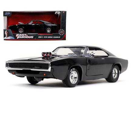 """Dodge Charger R/T 1970 Dom's 1970 """"Fast & Furious 9"""" Zwart 1:24 Jada Toys"""