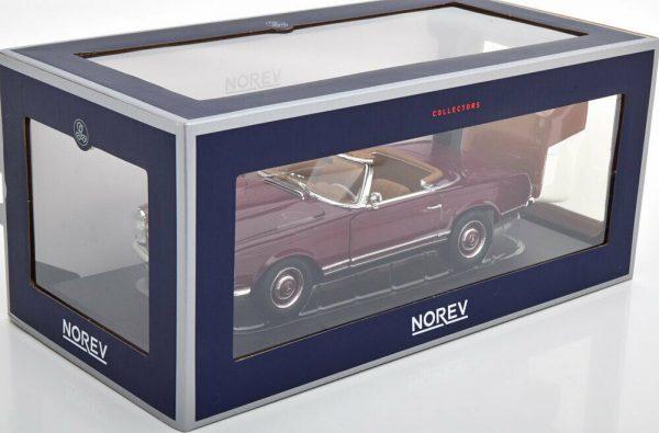Mercedes-Benz 230 SL 1963 ( Pagode ) Dark Red 1-18 Norev