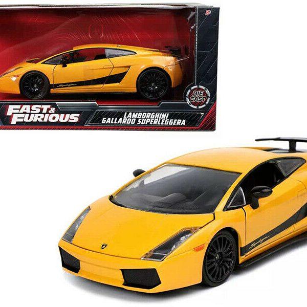 """Lamborghini Gallardo Superleggera """"Fast & Furious 6 (2013)"""" Geel 1:24 Jada Toys"""