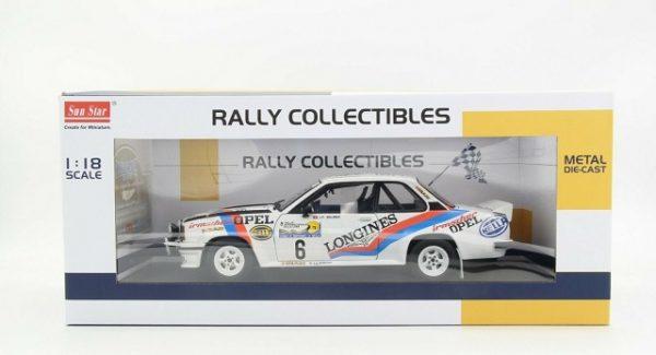"""Opel Ascona 400 #6 """"Irmscher Longines"""" Rally Internazionale Della Lana 1982 J.P.Balmer / F.Cavalli 1:18 Sun Star Limited 999 Pieces"""