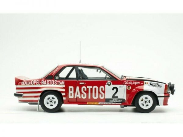 """Opel Ascona 400 #2 Gr.4 Winner Lotto Haspengouw Rally1982 #2 """"Bastos"""" G.Colsoul / A.Lopes 1-18 Sun Star Limited 999 Pieces"""