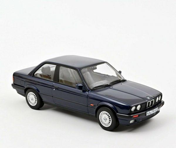 BMW 325I ( E30 ) 1988 Blauw Metallic 1-18 Norev