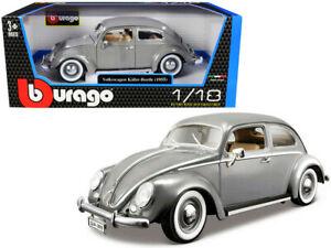 Volkswagen Kever 1955 Grijs 1-18 Burago