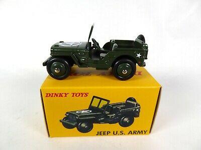 Jeep Willys U.S Army Groen 1-43 Dinky Toys ( Atlas )