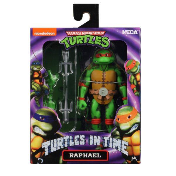 """Teenage Mutant Ninja Turtles: Turtles in Time """"Nickelodeon"""" Raphael Afmeting 7 Inch / 17 cm Neca"""